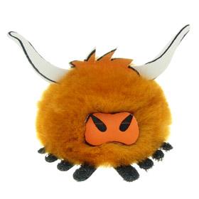 Printed Furry Highland Cow Bug