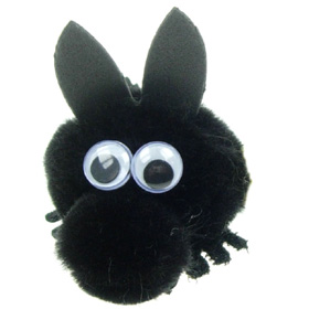 Personalised Fuzzy Black Horse Bug