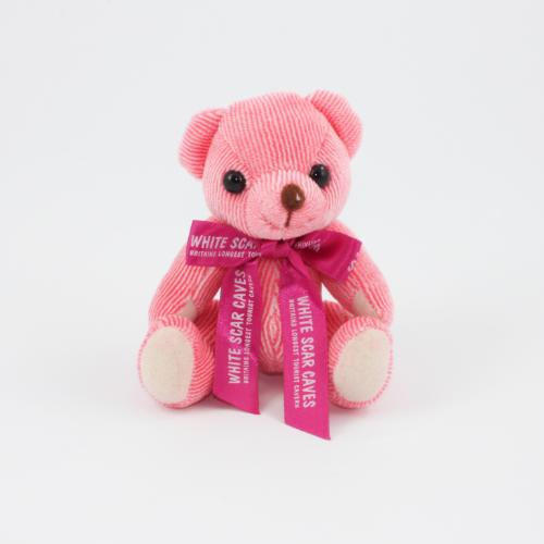12.5cm Strawberry Candy bear Bow