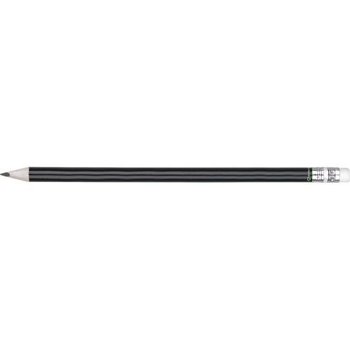 Eco - Recycled Paper Pencil With Eraser in black