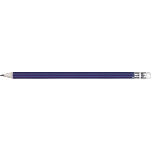 Eco - Recycled Paper Pencil With Eraser in blue