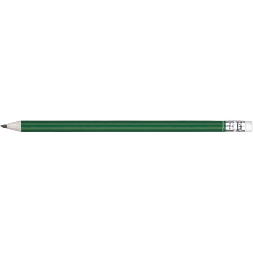 Eco - Recycled Paper Pencil With Eraser in green