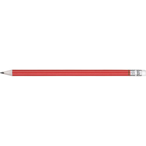 Eco - Recycled Paper Pencil With Eraser in red