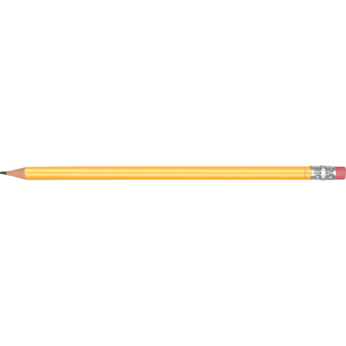 Recycled Plastic Pencil in yellow