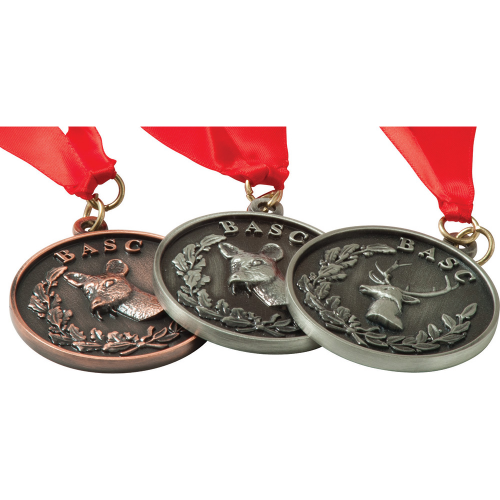 Alloy Injection & Nickel Plated Medal (50mm)