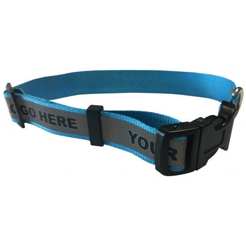 Dog Collar with Reflective Strip - Large