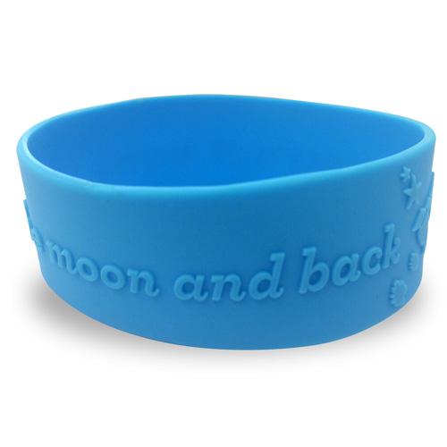 Single Colour Wristband - Large Width - Embossed/Raised