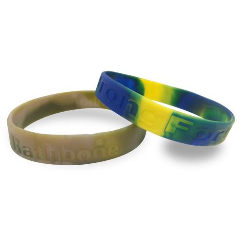 Multi Colour Wristband - Debossed/Sunken In