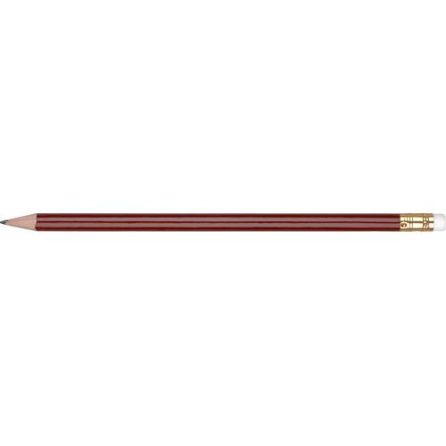 WP - ORO - Gold Ferrule & White Eraser in burgundy