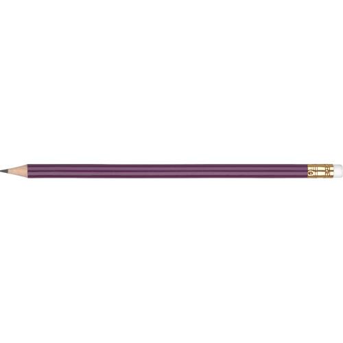 WP - ORO - Gold Ferrule & White Eraser in purple