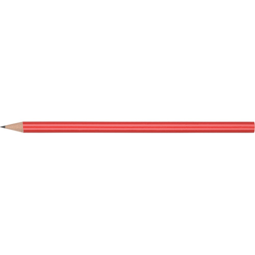 WP - STANDARD NE - No Eraser  Barrel (Round With Straight Cut End) in red