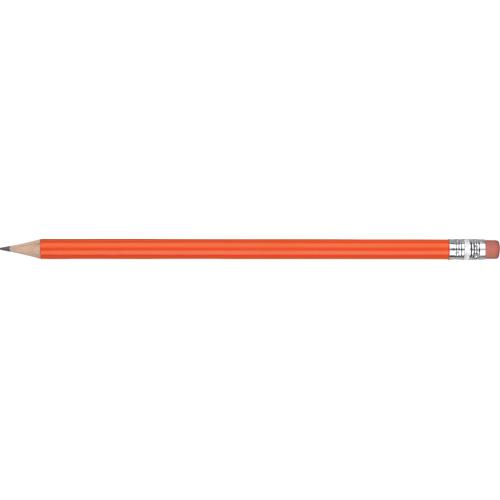 WP - STANDARD WE - Silver Ferrule & Pink Eraser in orange