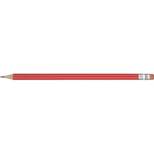 WP - STANDARD WE - Silver Ferrule & Pink Eraser in red