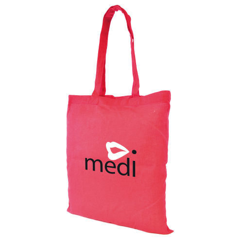Budget Coloured Shopper in red