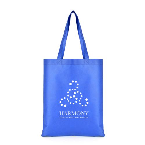 Two Tone Shopper in blue