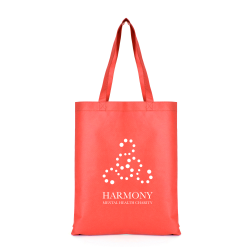 Two Tone Shopper in red