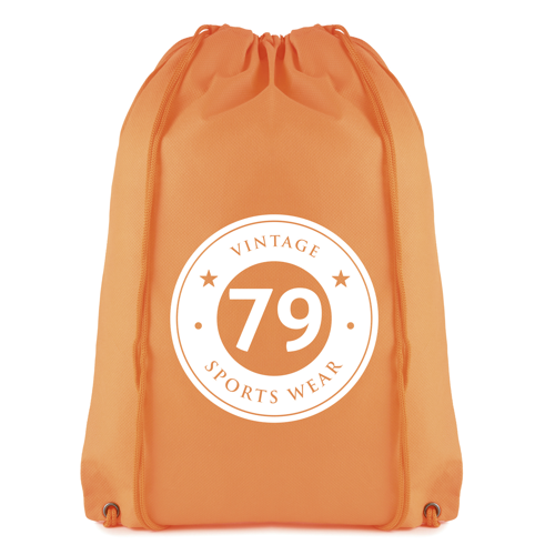 Rothy Drawsting Bag in orange