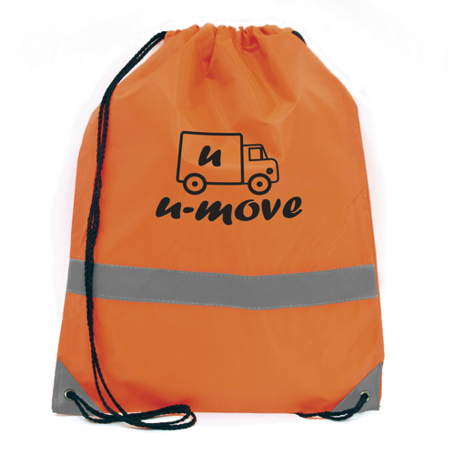 Celsius Drawstring Bag in orange