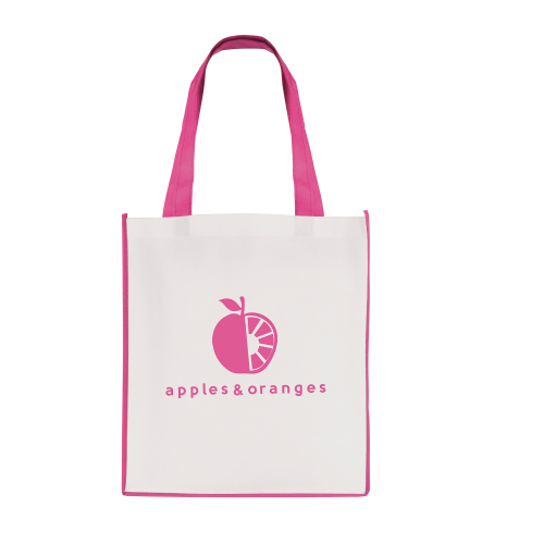 Large Contrast Shopper in pink
