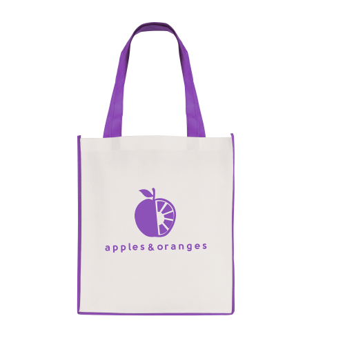 Large Contrast Shopper in purple