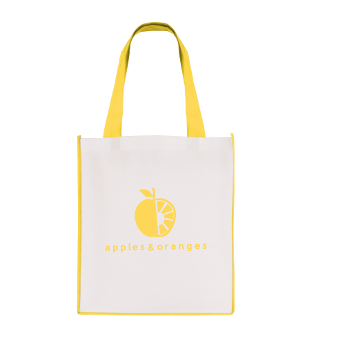 Large Contrast Shopper in yellow