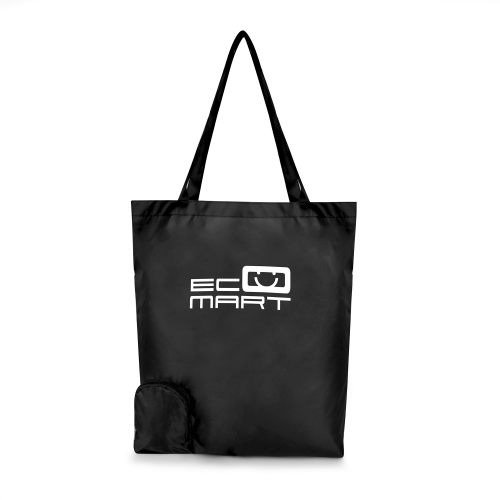 Trafford Foldable Shopper in black