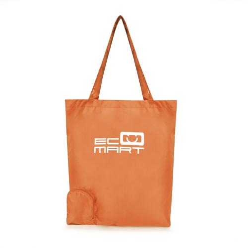 Trafford Foldable Shopper in orange