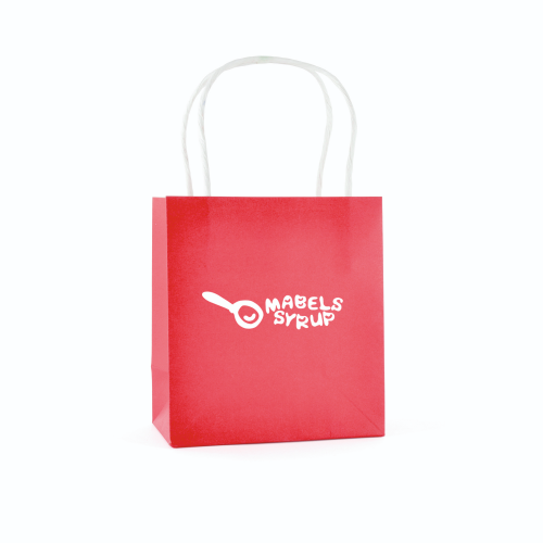 Ardville Small Paper Bag in red