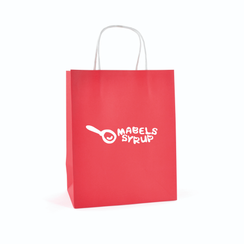 Ardville Medium Paper Bag in red