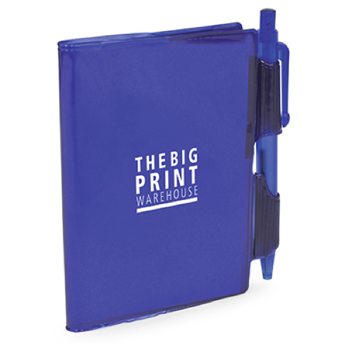 A7 PVC Notepad and Pen in blue