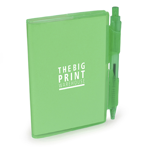 A7 PVC Notepad and Pen in green