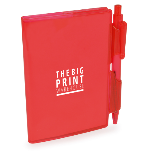 A7 PVC Notepad and Pen in red