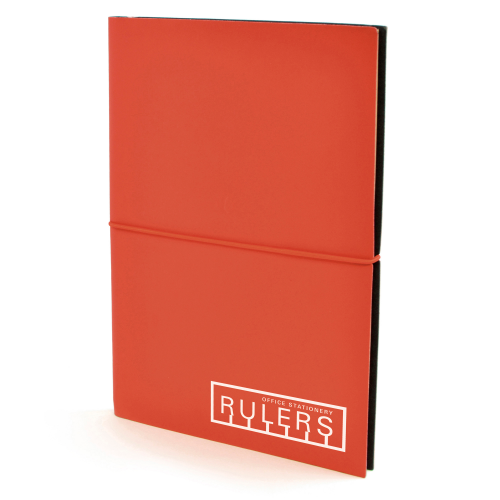 A5 Centre Notebook in red