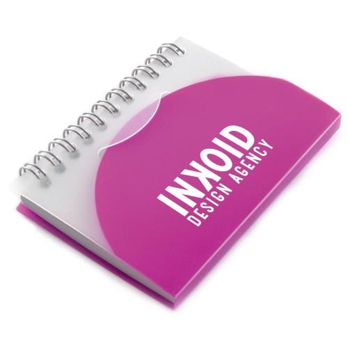 A7 Spiral Notebook in pink