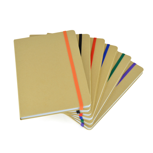 A5 Natural Recycled Notebook in red