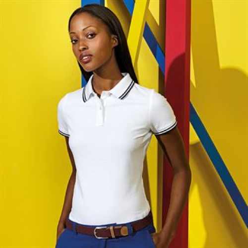 Women'S Classic Fit Tipped Polo