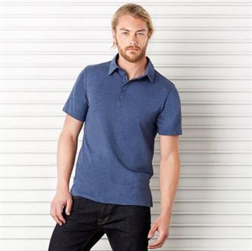 Unisex Jersey 5-Button Polo
