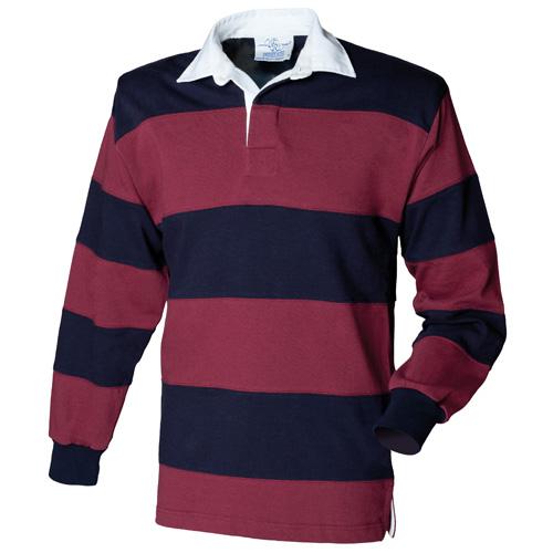 Sewn Stripe Long Sleeve Rugby Shirt