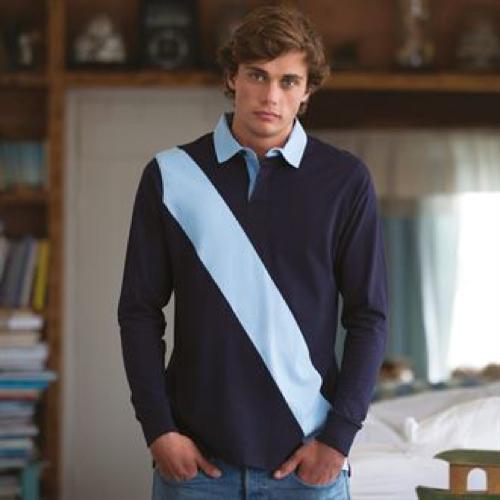 Diagonal Stripe Rugby Shirt - Tag Free