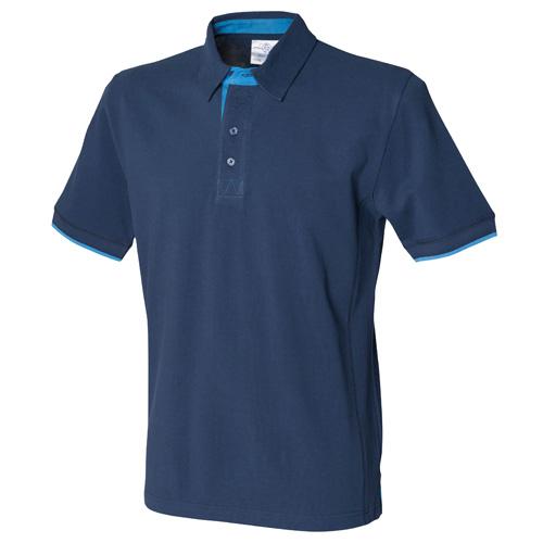 Contrast Piqué Polo Shirt