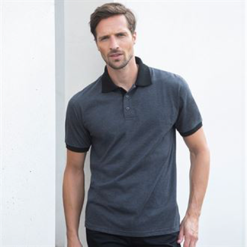 Contrast Triblend Polo Shirt