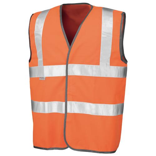 Safety High-Viz Vest in fluorescent-orange
