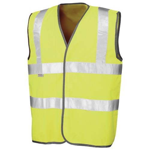 Safety High-Viz Vest in fluorescent-yellow