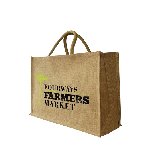Large Jute Shopper Bag (470 x 330 + 180mm)