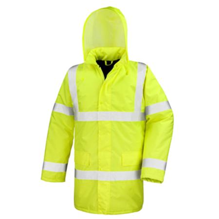 Motorway Coat in fluorescent-yellow