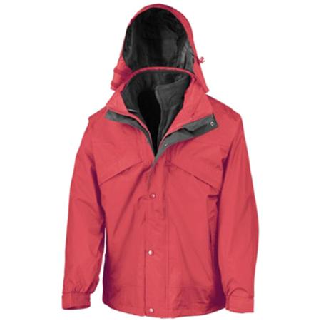 3-in-1 Waterproof Fleece Lined Jacket in red