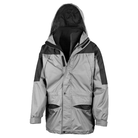 Alaska 3-in-1 Jacket in grey-black