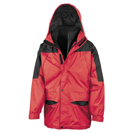 Alaska 3-in-1 Jacket in red-black
