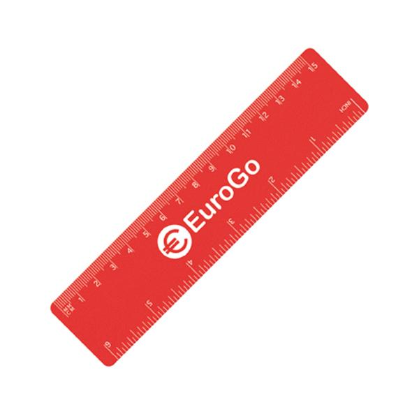 15cm PP Colour Ruler in red