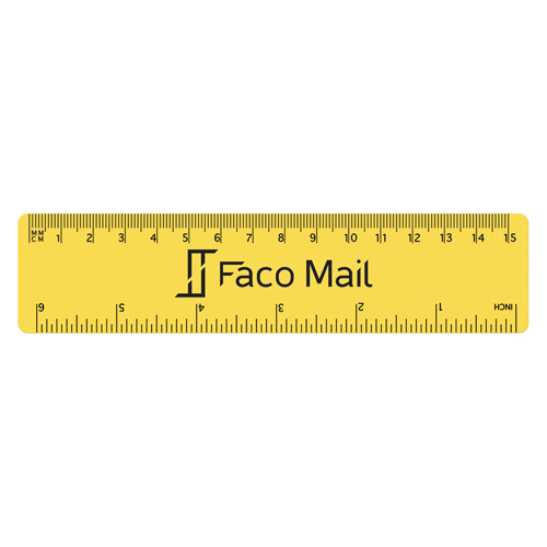 15cm PP Colour Ruler in yellow
